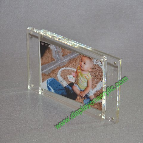 plexiglass photo frame with magnetic