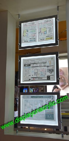A1 Wire Hanging Led Window Display