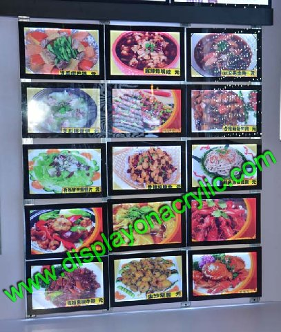 Restaurant Wall Menu Lightboxes