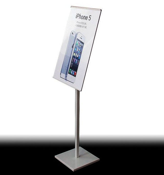 Floor Standing Sign Holders Pop Display Stand Pedestal