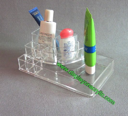 cosmetic organizer stand lucite