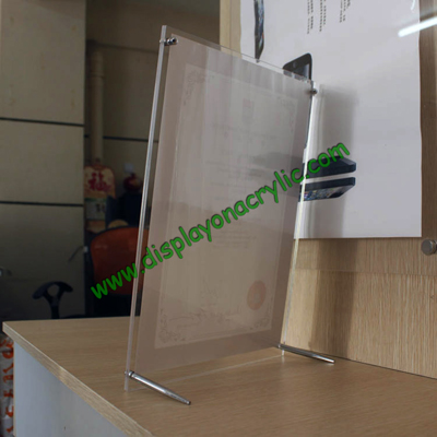 countertop plexiglass picture frame counertop acrylic poster fame counter top poster frame