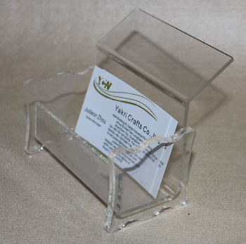 plexiglass business card holders