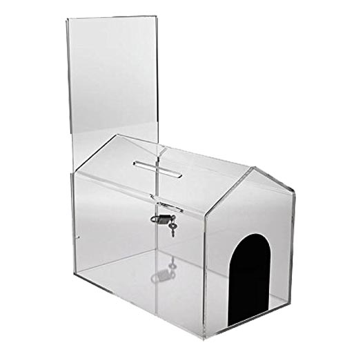 Dog House Acrylic Donation Box Donation Container Charity