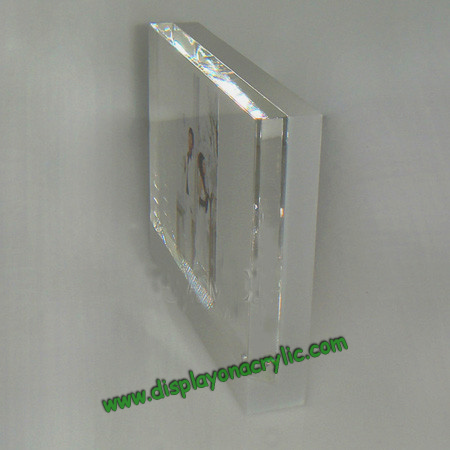 Lucite Photo Holder Pictre Frames Plexiglass Photo Blocks