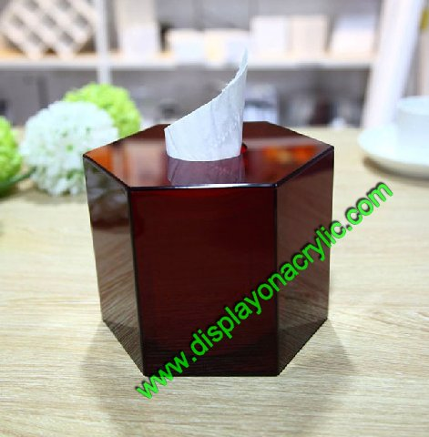 Hexagon Acrylic Napkin Ring Dispenser
