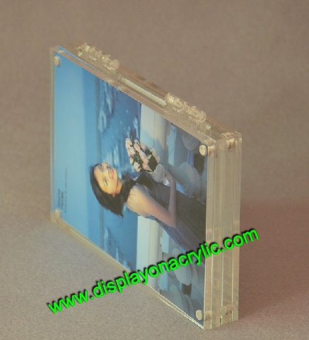 hinged double plexiglass frames