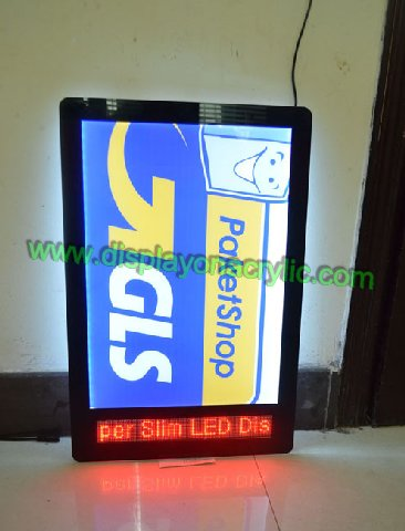 Crystal Light Box With LED Screen