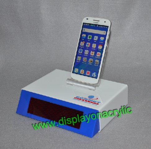 acrylic cellphone stand with led screen