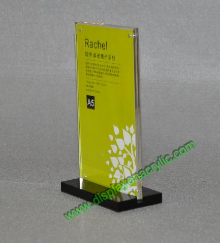 Acrylic Menu Covers Bar Stand