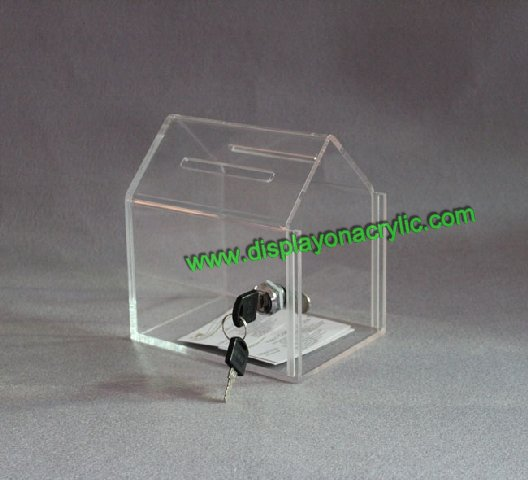 Acrylic Donation Boxes Plexiglass Donation Containers
