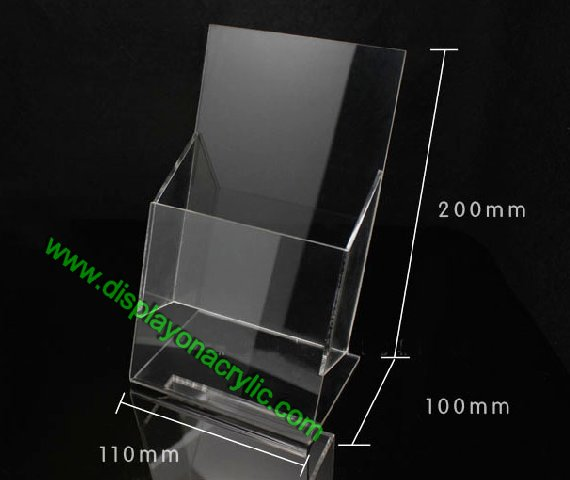 perspex brochure stand