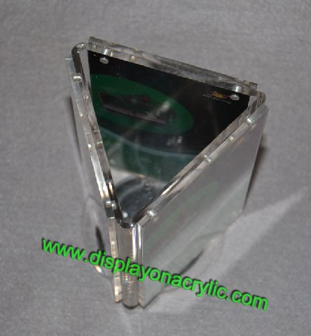 3 Sided Sign Holders Rotating Menu Stands Perspex Sign