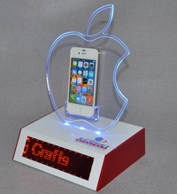 led phone display stands